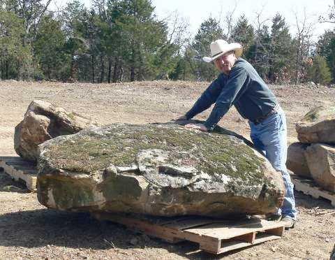 Moss boulder 1